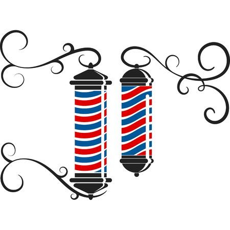 Barbershop and hairdresser symbol design