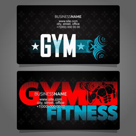 Concepto de negocio de tarjeta de gimnasio y fitness Ilustración de vector