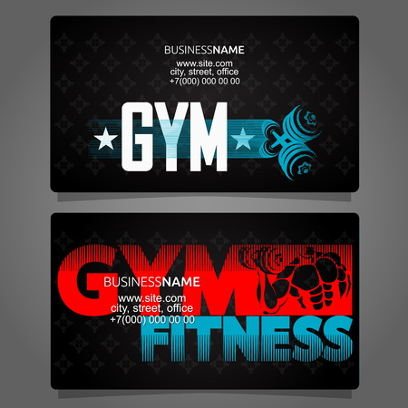 Gym and fitness card business concept Vetores