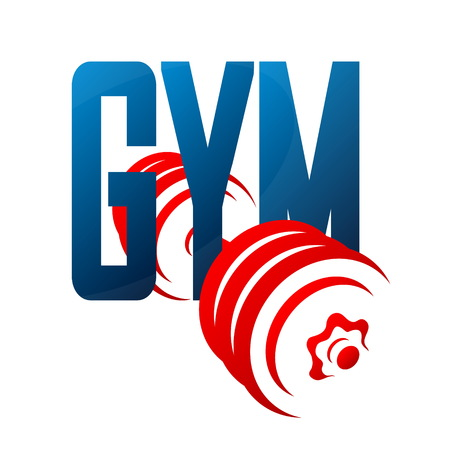 Gym and dumbbell symbol for training