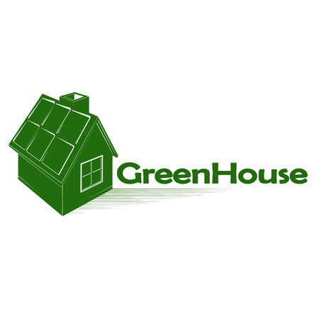 Green house symbol for construction