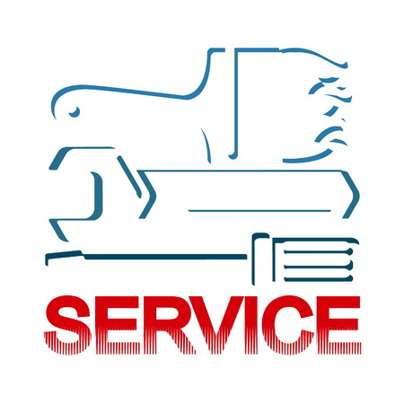 Service and repair symbol with tool Vectores