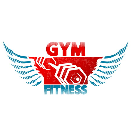Symbol of gym and fitness for sports