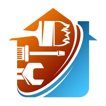 Réparation et entretien de l'outil de symbole de la maison Vecteurs