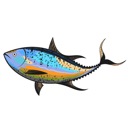 atún peces de mar único diseño