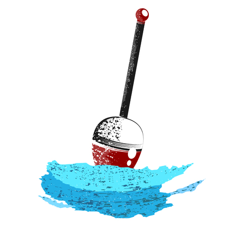 Fishing float on a blue wave vector