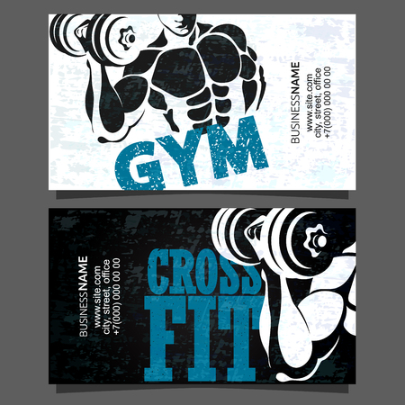 Gym and fitness card business concept
