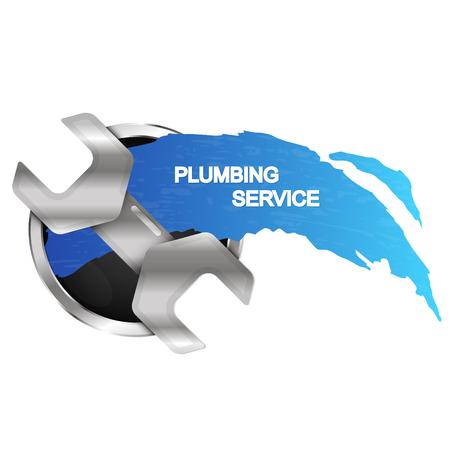 Moersleutel sanitair reparatie en onderhoud symbool