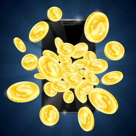 Gold coins and mobile phone gambling winnings
