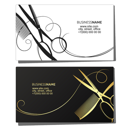 Business card for hairdresser beauty salon
