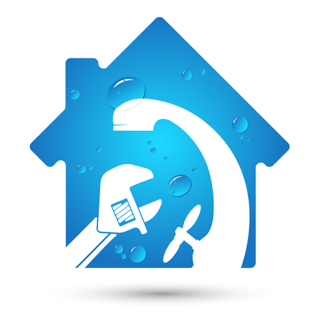 House plumbing repair and maintenance symbol