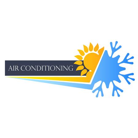 Heating cooling symbol for business Vektorové ilustrace