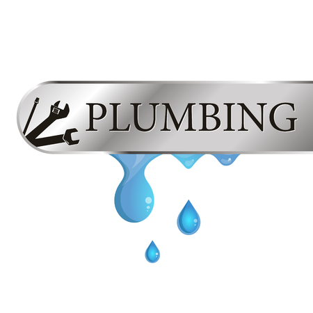 Plumbing repair and service design vector
