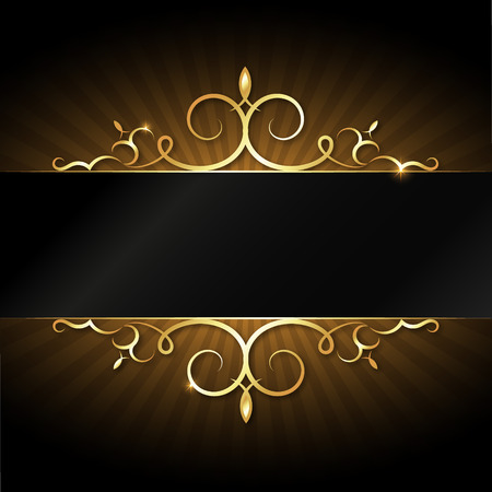 Design with gold ornament