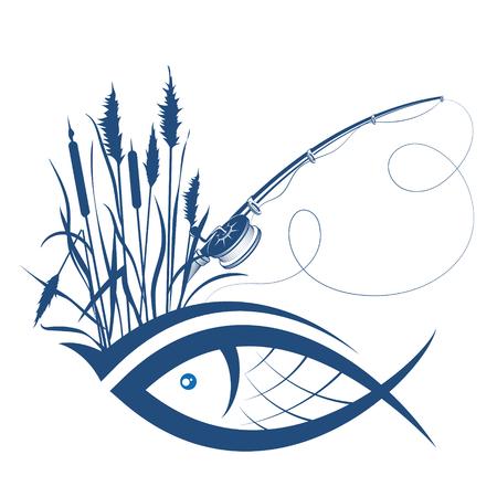 Silhouette of fish Vettoriali
