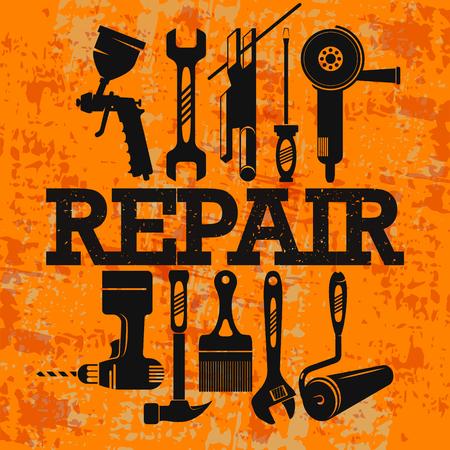 Repair tools for a master Çizim