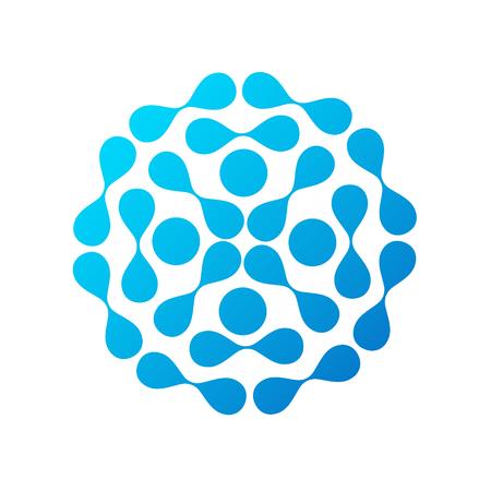 Drops blue water molecule symbol for business Standard-Bild - 122572012