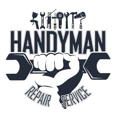 Handyman with a tool symbol