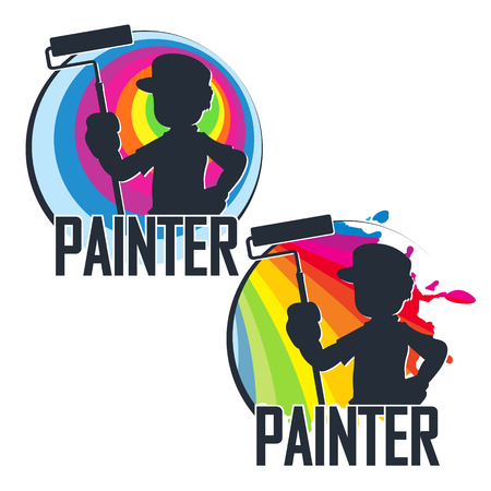 Painter with paint