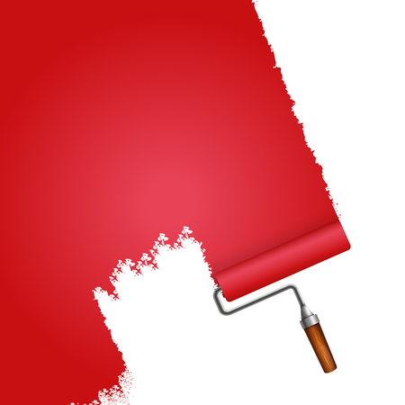 Roller red for painting walls