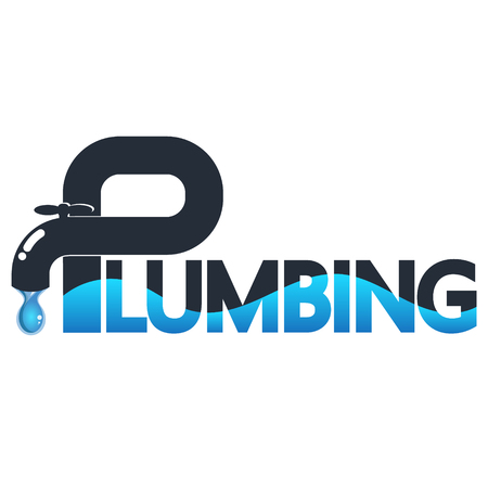 Water tap with drop for plumbing and water pipe repair Illustration