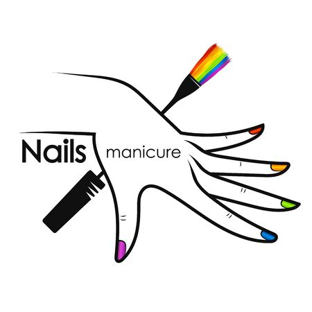 Design for beauty salon and nail care Illustration