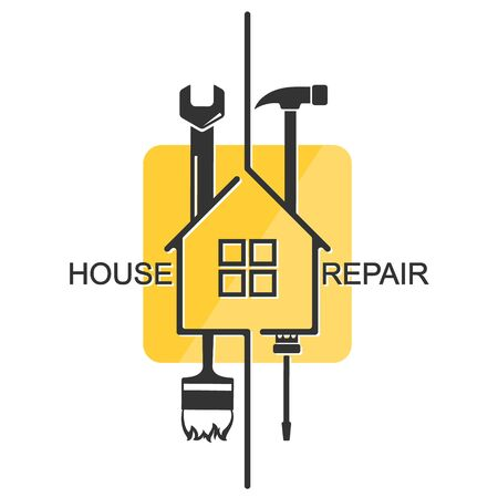 Home repair and maintenance with tool symbol for business