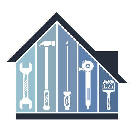 House tool repair and maintenance symbol