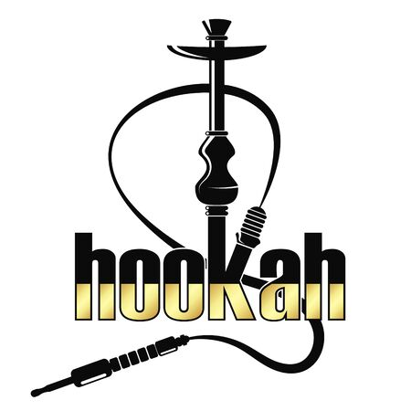 Vector hookah relax with smoke