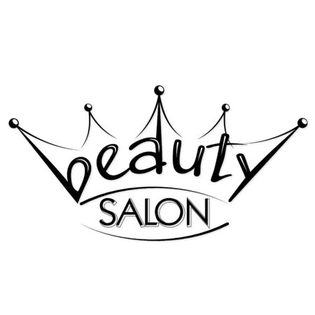 Beauty salon and hairdresser crown silhouette Çizim