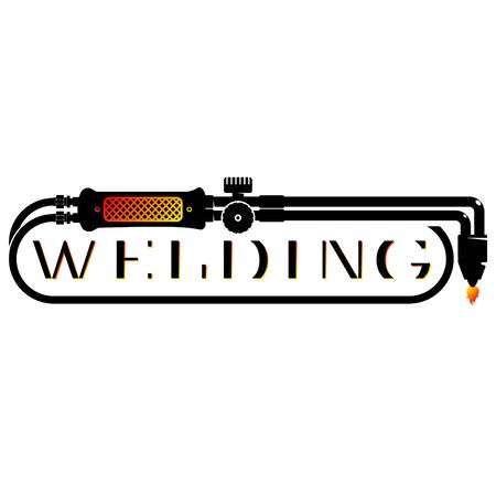 Symbol for welder and welding work Illustration