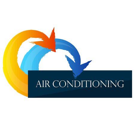 Air conditioning symbol sun and snowflake design Vettoriali
