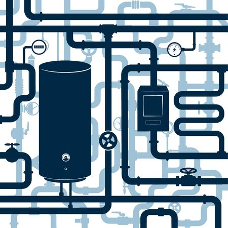 System water supply piping plumbing repair