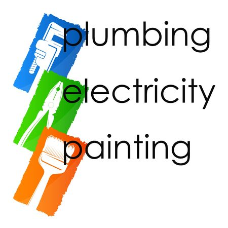 Symbol plumbing painting and electrician repair and installation