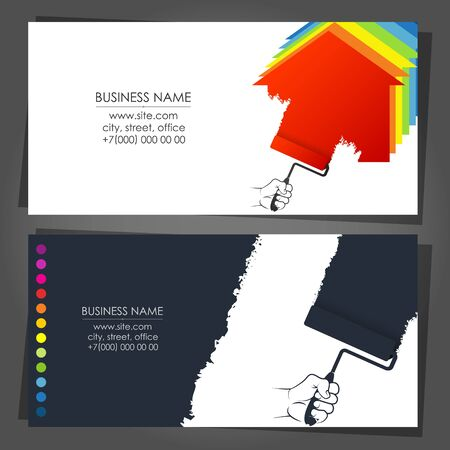 Painter business card for painting