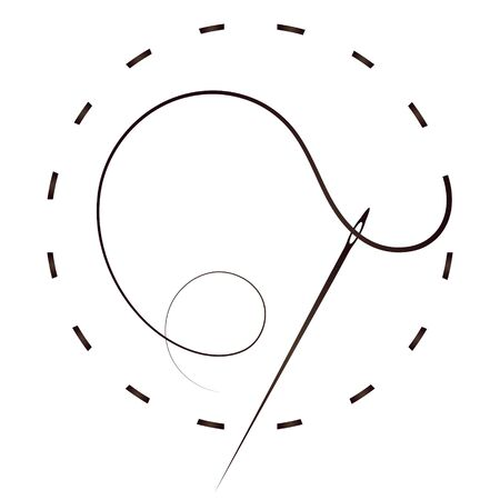 Needle thread symbol for cutting and sewing
