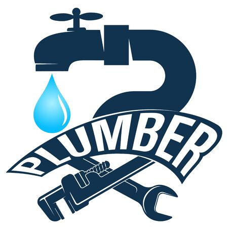 Symbol for repair and maintenance of plumbing and water pipes