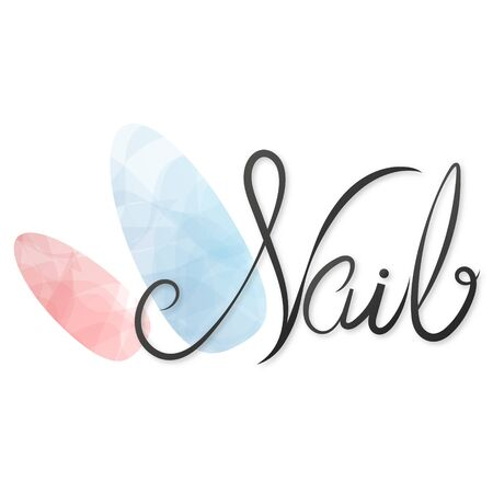 Nails studio care manicure and painting symbol for business Çizim