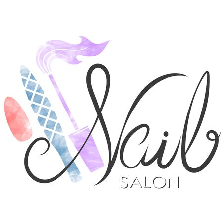 Nail care and manicure symbol for beauty salon