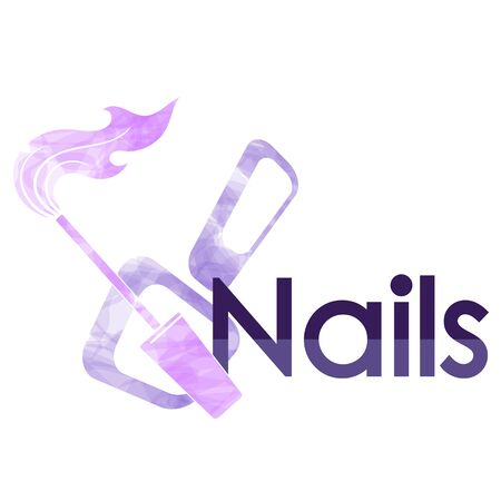 Nails manicure care and painting symbol for stylist
