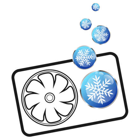Air conditioner cooling cool snowflake symbol for business