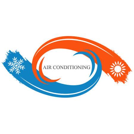 Air conditioner waves symbol Stock Illustratie