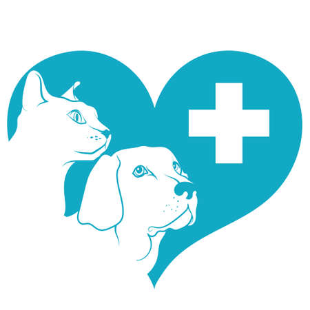 Muzzle dog and cat heart medical cross