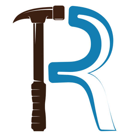 Repair and service hammer symbol 向量圖像