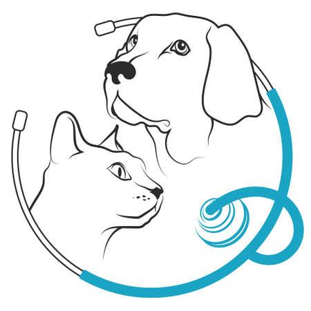 Veterinary clinic for animals symbol 向量圖像
