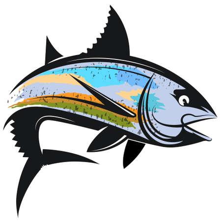 Tuna silhouette for fishing