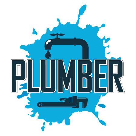 Plumber locksmith repair and service symbol