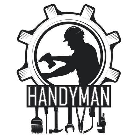 Handyman symbol and tool set