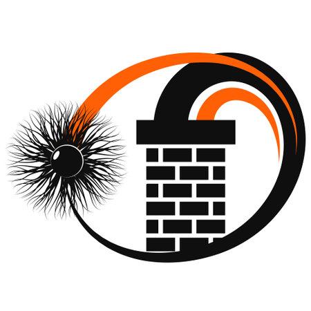 Cleaning the chimney brick chimney symbol