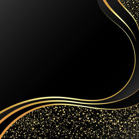 Gold on a black background abstract 向量圖像